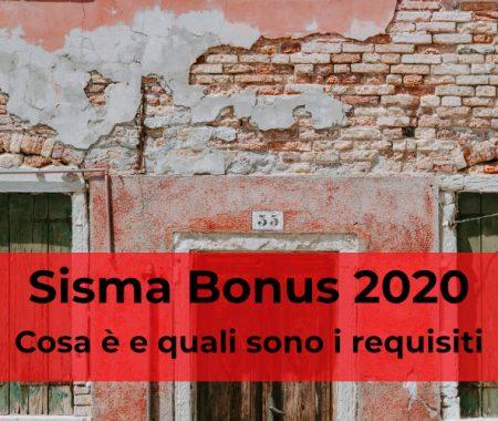Sisma bonus 2020: cosa è e come usufruire del credito di imposta al 110%